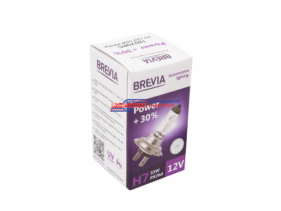Автолампа BREVIA H7 Power +30% 12V\55W (12070PC)